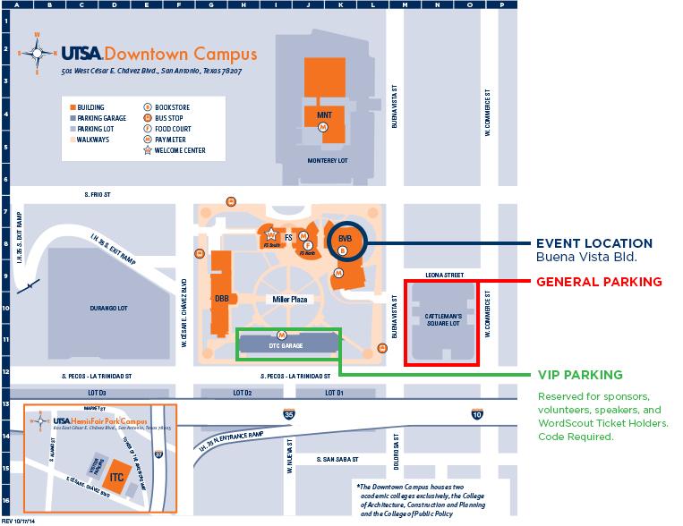 Utsa Downtown Campus Map UTSA Downtown – WordCamp San Antonio Utsa Downtown Campus Map